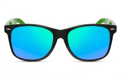 Green / Black Wayfarer met Spiegelglazen