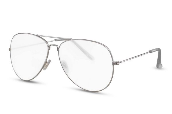 Pilotenbril met Transparante Glazen