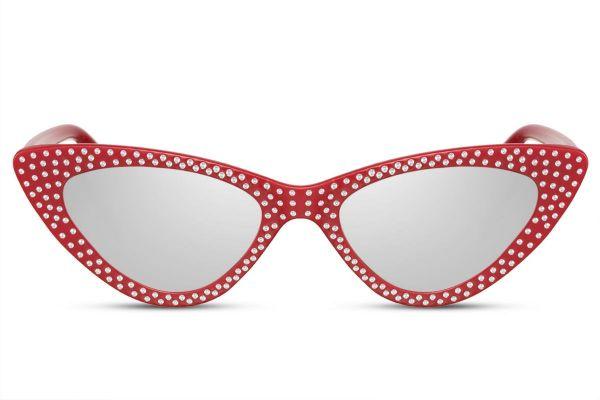 Diamond Cateye Red